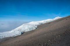 Il ghiacciaio di Rebmann, Kilimanjaro Immagine Stock