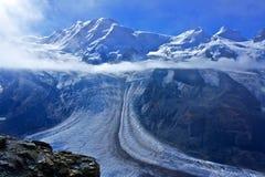 Il ghiacciaio magnifico del Matterhorn Fotografia Stock Libera da Diritti