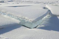 Il ghiaccio del Baikal. Fotografia Stock Libera da Diritti
