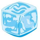 Il ghiaccio del cubo per il raffreddamento sul fondo bianco è isolato illustrazione vettoriale