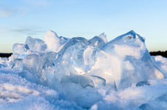 Il ghiaccio di Baikal Immagini Stock