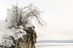 Il ghiaccio di Baikal Immagine Stock