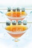 Il ghiaccio di Dragonfruit e della pesca si è mescolato Immagini Stock Libere da Diritti