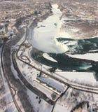 Il ghiaccio ed il potere di Niagara Immagini Stock Libere da Diritti
