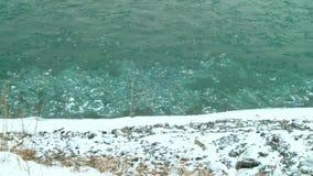 Il ghiaccio sul fiume stock footage