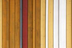 Il giallo, il bianco ed il gray hanno dipinto la struttura di legno del fondo con la VE Fotografia Stock Libera da Diritti