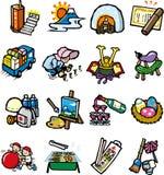 Il Giappone della raccolta dell'icona di evento Fotografia Stock