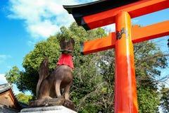 Il Giappone Kyoto Fushimi Inari-taisha Fotografie Stock Libere da Diritti