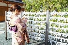 Il Giappone Kyoto Fushimi Inari-tsisha Fotografie Stock Libere da Diritti