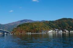 Il Giappone, lago Kawaguchiko Immagini Stock