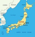 Il Giappone - mappa Immagine Stock