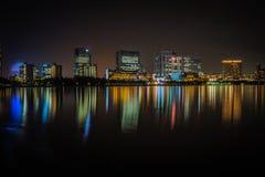 Il Giappone Tokyo, alla notte in odaiba Fotografia Stock Libera da Diritti