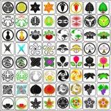 Il giapponese crests gli emblemi della famiglia Illustrazione di Stock