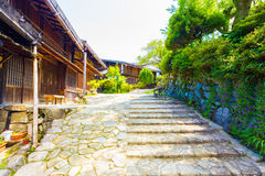 Il giapponese rustico del villaggio di Nakasendo Tsumago alloggia la H Fotografie Stock Libere da Diritti