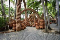 Il giardino botanico tropicale di NongNooch Fotografie Stock Libere da Diritti