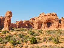 Il giardino della scultura del deserto incurva il parco nazionale Fotografia Stock Libera da Diritti