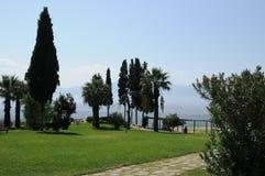 Il giardino di Hierapolis - Pamukkale Fotografia Stock