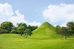 Il giardino di Suizenji è un giardino del paesaggio di stile spazioso e giapponese Fotografia Stock Libera da Diritti