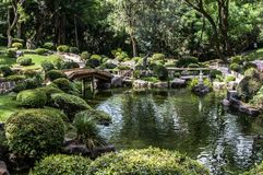 Il giardino giapponese nel Messico immagini stock