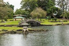 Il giardino in Hilo, Hawai fotografie stock