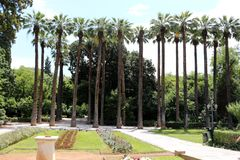 Il giardino nazionale di Atene Fotografie Stock Libere da Diritti