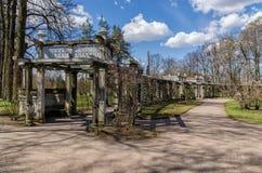 Il giardino pensile in Catherine Park in Tsarskoye Selo Immagini Stock Libere da Diritti
