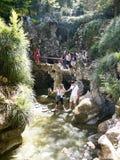 Il giardino Strean in Quinta da Regaleira è una proprietà situata vicino al centro storico di Sintra, Portogallo Fotografia Stock