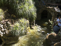 Il giardino Strean in Quinta da Regaleira è una proprietà situata vicino al centro storico di Sintra, Portogallo Fotografia Stock Libera da Diritti
