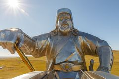 Il gigante Gengis Khan immagine stock