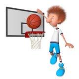 Il giocatore di pallacanestro su addestramento Fotografia Stock Libera da Diritti