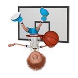 Il giocatore di pallacanestro su addestramento Immagini Stock Libere da Diritti