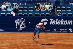 Il giocatore di tennis ha servito un ball-5 Fotografia Stock Libera da Diritti
