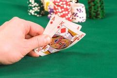 Il giocatore in mazza. Fotografia Stock