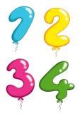 Il giocattolo di numeri balloons 1 Fotografia Stock Libera da Diritti