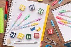 Il giocattolo di per la matematica scherza il concetto fotografia stock libera da diritti