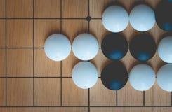 Il gioco da tavolo di Weiqi o va Immagine Stock