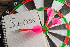 Il gioco dei dardi Simbolo di successo Fotografia Stock Libera da Diritti
