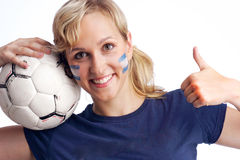Il gioco del calcio è grande Fotografie Stock