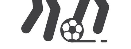 Il gioco del gioco di calcio e di calcio illustra royalty illustrazione gratis