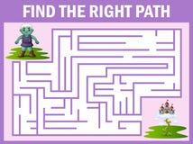 Il gioco del labirinto del gigante trova il suo modo al palazzo del cielo Illustrazione Vettoriale