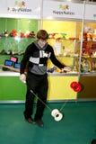 Il gioco del tirante il yo-yo Fotografia Stock