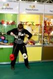 Il gioco del tirante il yo-yo Fotografie Stock Libere da Diritti