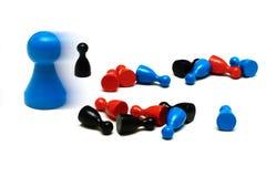 Il gioco della protezione calcola l'opinione differente Fotografia Stock