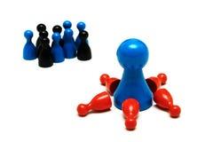 Il gioco della protezione calcola l'opinione differente Fotografie Stock