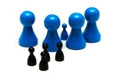 Il gioco della protezione calcola le dimensioni differenti Immagini Stock Libere da Diritti