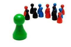Il gioco delle coppie calcola l'opinione differente Fotografia Stock Libera da Diritti