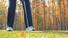 Il gioco di golf stock footage
