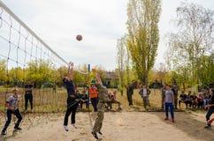 Il gioco di pallacanestro Fotografia Stock Libera da Diritti