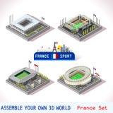 Il gioco ha fissato la costruzione 18 isometrica royalty illustrazione gratis
