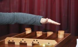 Il gioco olandese di sjoelen Fotografia Stock Libera da Diritti